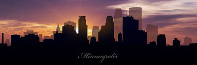 Minnesota Digital Art - Minneapolis Sunset by Aged Pixel