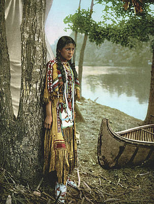 Beadwork Photograph - Minnehaha by Underwood Archives