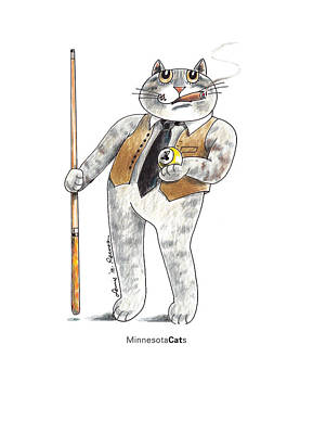 Minnesota Cats Print by Louise McClain Reeves