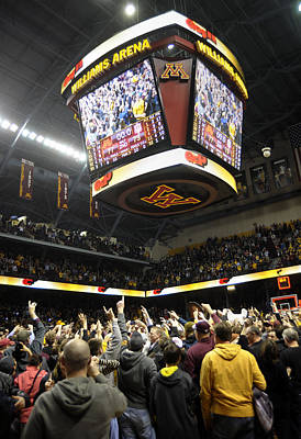 Minnesota Fans Celebrate Victory At Williams Arena Print by Replay Photos