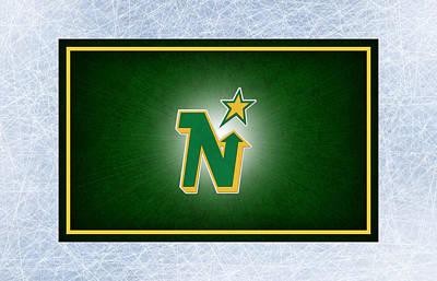 Minnesota Photograph - Minnesota North Stars by Joe Hamilton