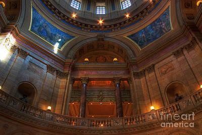 Minnesota State Capital Balcony Print by Wayne Moran