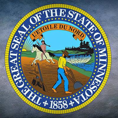 Minnesota State Seal Print by Movie Poster Prints