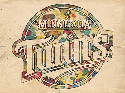Twins Painting - Minnesota Twins Poster Vintage by Florian Rodarte