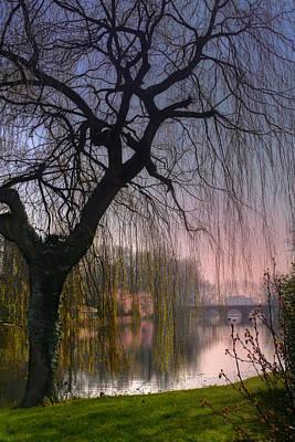 Minnewater Lake Bruges Print by Carol Japp