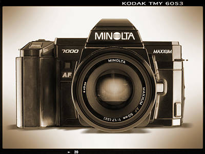 35mm Photograph - Minolta Maxxum by Mike McGlothlen