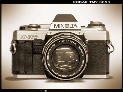 35mm Photograph - Minolta X-370 by Mike McGlothlen