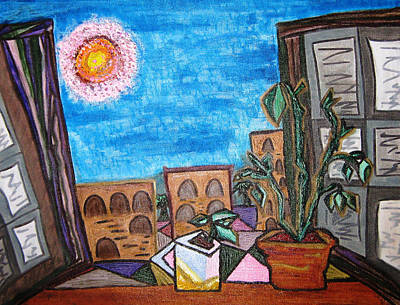 Mint Plant Tea Mediterranean  Print by Lois Picasso