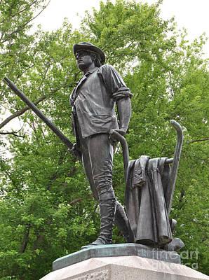 Minute Man Statue Concord Ma Print by Staci Bigelow