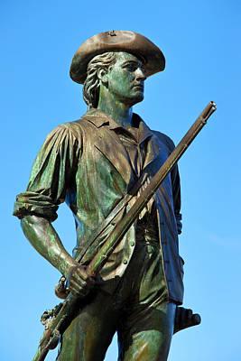 Minuteman Statue At Old North Bridge Print by Brian Jannsen