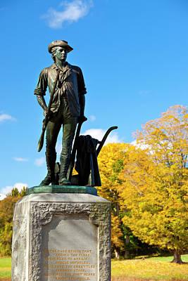 Minuteman Statue In Autumn At Old North Print by Brian Jannsen