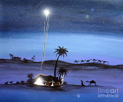 Stary Sky Painting - Miracle by Artist Singh