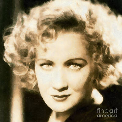 Actor Painting - Miriam Hopkins by Vincent Monozlay
