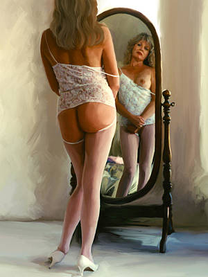 Nude Painting - Mirror II by Shelby