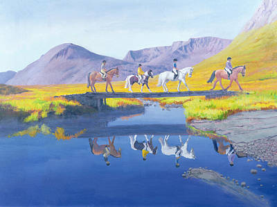 Horseback Painting - Mirror In The Cairngorms by William Ireland