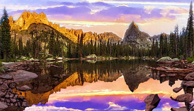 Mirror Lake Yosemite National Park Print by Bob and Nadine Johnston