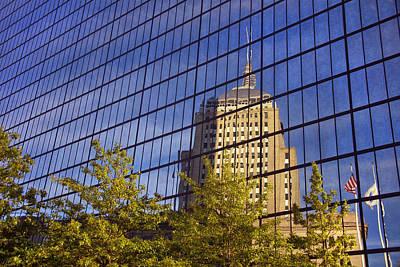 Boston Photograph - Mirrored Hancock - Boston by Joann Vitali