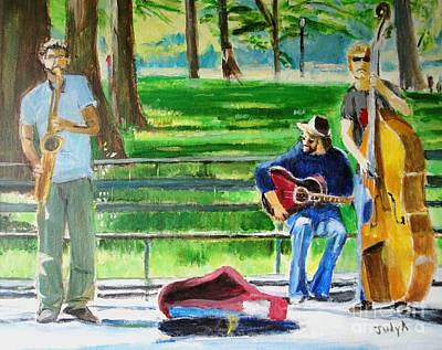 Figurative Painting - Music In The Park by Judy Kay