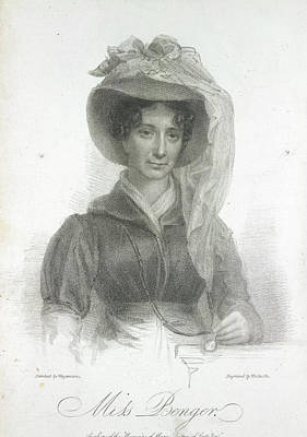 Miss Benger Print by British Library