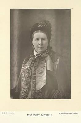 Miss Emily Faithfull Print by British Library