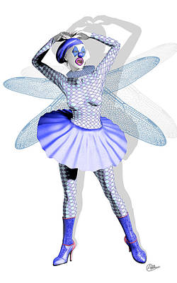 Showgirls Digital Art - Miss Fairy Pierrette by Quim Abella