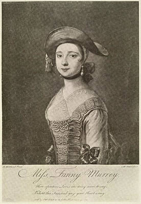 Miss Fanny Murray Print by British Library