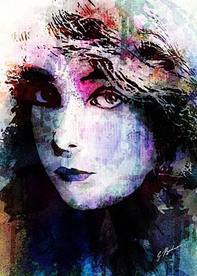 Lips Digital Art - Miss Gish by Gary Bodnar