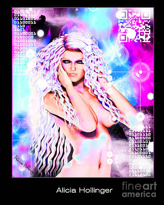 Code Mixed Media - Miss Inter-dimensional 2089 by Alicia Hollinger