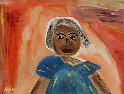 Miss Mary Franklin Print by Mary Carol Williams