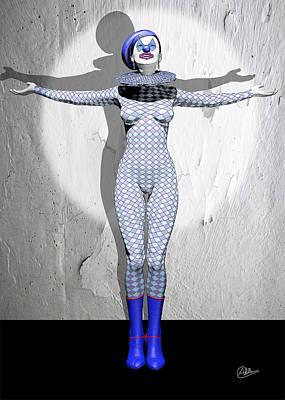 Showgirls Digital Art - Miss Pierrette Receiving Applause by Quim Abella
