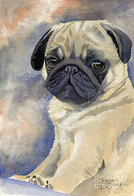 Gouache Painting - Miss Puggles by Suzanne Schaefer