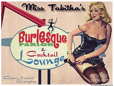 Miss Tabithas Burlesque Parlor Print by Cinema Photography