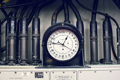 Missile Control Room Clock Print by Jim West
