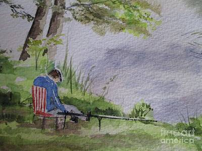 Sports Artist Painting - Missing The Action by Martin Howard