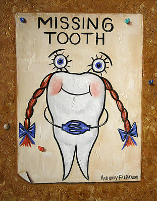 Tooth Digital Art - Missing Tooth by Anthony Falbo