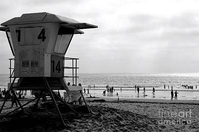 Mission Beach San Diego Print by David Gardener