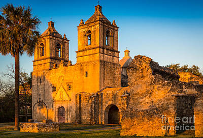 Steeple Photograph - Mission Concepcion by Inge Johnsson