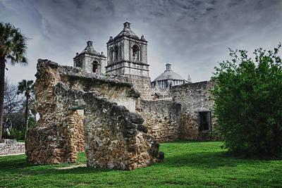 Mission Concepcion San Antonio Texas Print by Gerlinde Keating - Galleria GK Keating Associates Inc