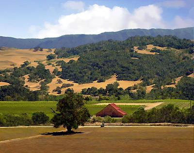 Barn Photograph - Mission Meadows Solvang California by Kurt Van Wagner