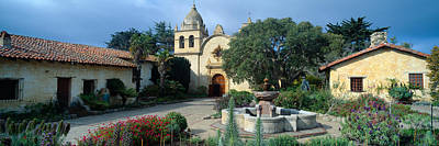 United States Mission Church Photograph - Mission San Carlos Borromeo De Carmelo by Panoramic Images