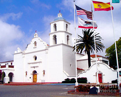 Mission San Luis Rey Print by Jerome Stumphauzer