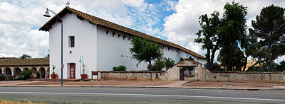 Saint Michael Photograph - Mission San Miguel Church At Roadside by Panoramic Images