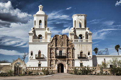 Mission San Xavier Del Bac Print by Stephen Stookey