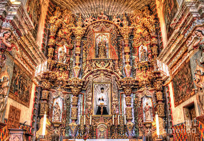 Religious Artist Photograph - Mission San Xavier Interior by Bob Hislop