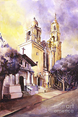 Mission Viejo Watercolor Painting Original by Ryan Fox