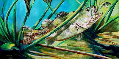 Mississippi Largemouth Bass Original by Karl Wagner