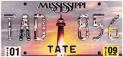 Colorful Photograph - Mississippi License Plate by Lanjee Chee
