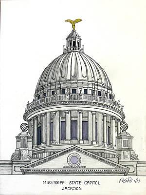Mississippi State Capitol Print by Frederic Kohli