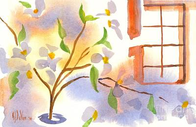Impressionistic Landscape Painting - Missouri Dogwood In The Window by Kip DeVore