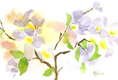 Impressionistic Landscape Painting - Missouri Dogwood In Watercolor by Kip DeVore